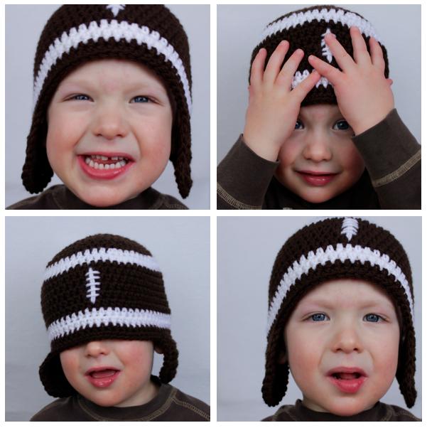 Crochet Football Hat Pattern